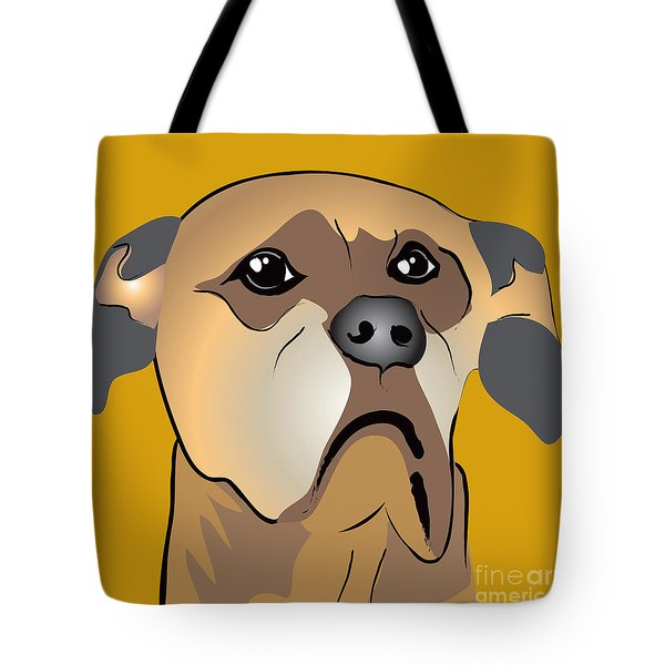 Niki Boxer Dog Portrait Tote Bag