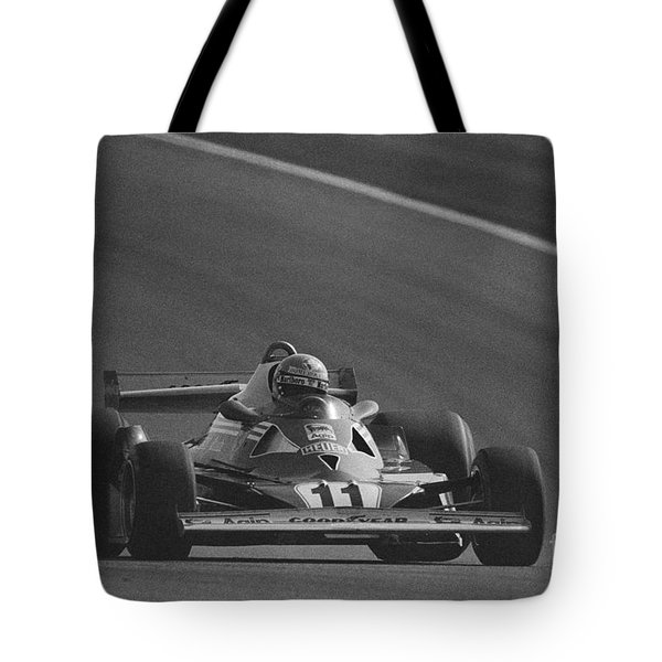 Niki Lauda. 1977 French Grand Prix Tote Bag