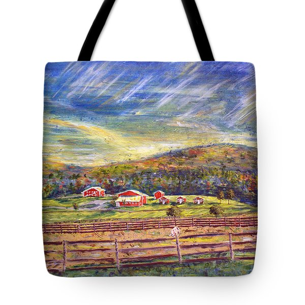 Nikki And Her Babies At Farm Sanctuary Tote Bag by Denny Morreale