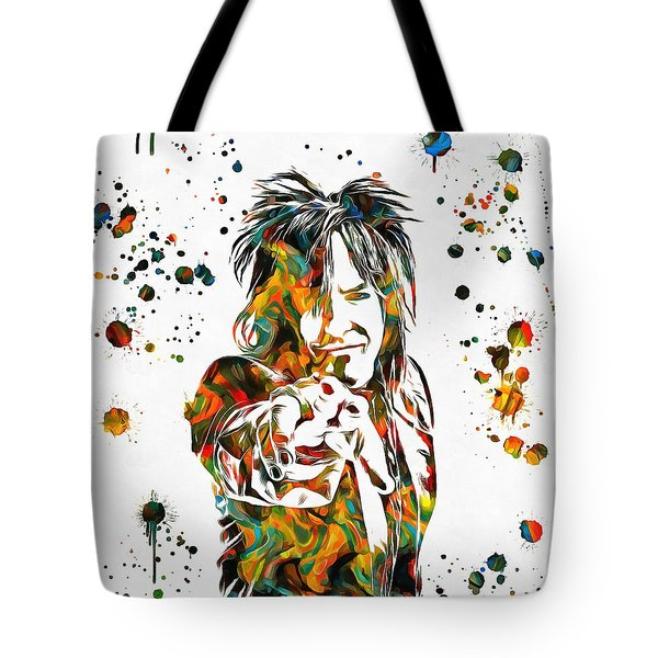 Nikki Sixx Paint Splatter Tote Bag