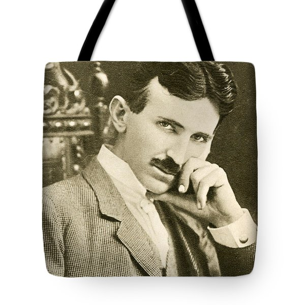 Nikola Tesla, Serbian-american Inventor Tote Bag