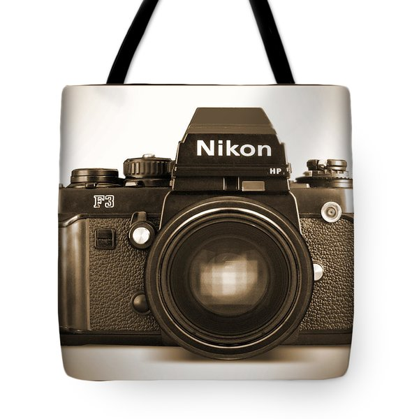 Nikon F3 Hp Tote Bag by Mike McGlothlen