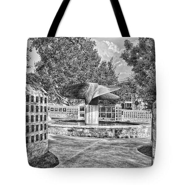 Nimitz Prop Fountain Tote Bag