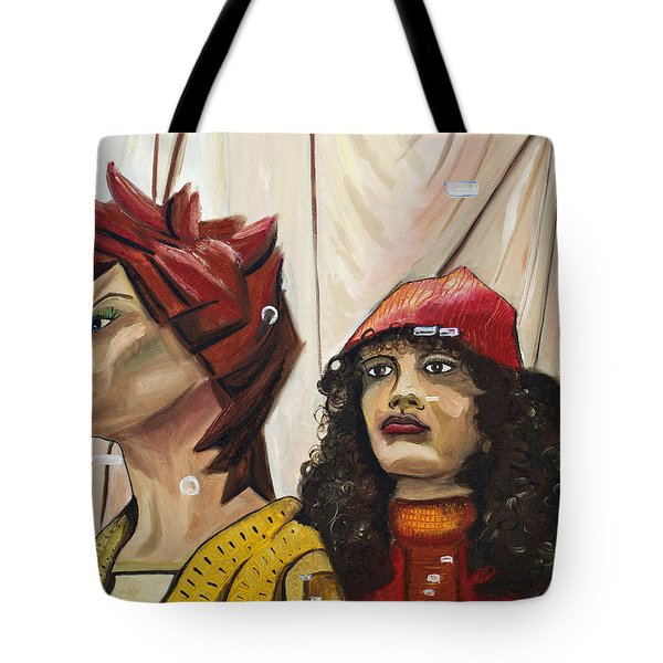 Tote Bag featuring the painting Nina And Star by Patricia Arroyo