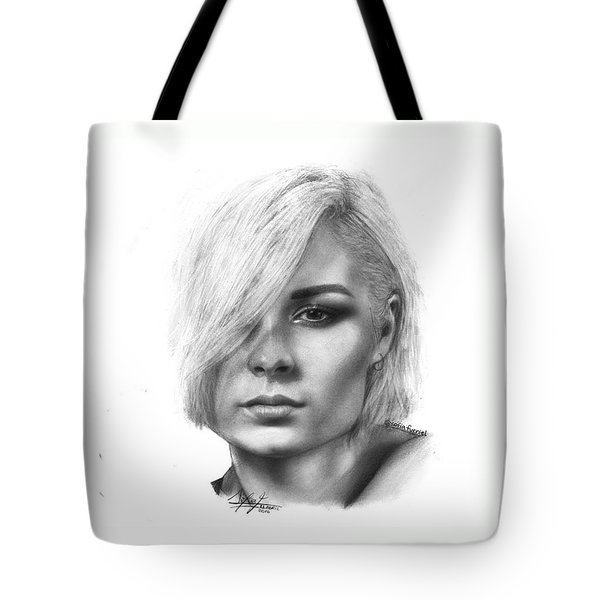 Nina Nesbitt Drawing By Sofia Furniel Tote Bag