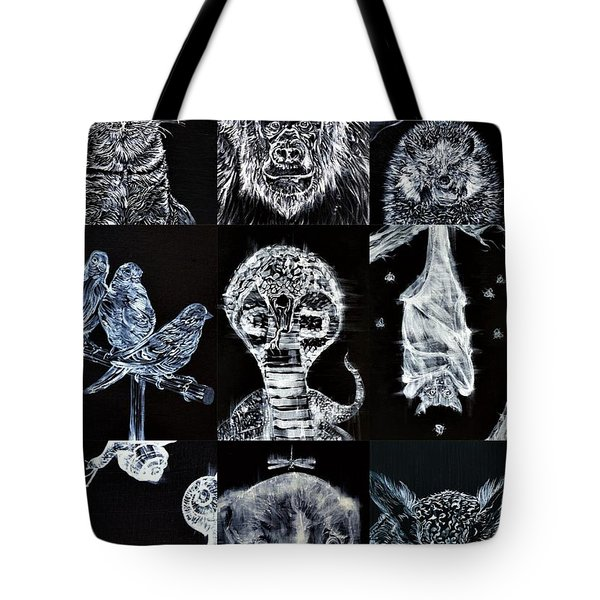 Nine Animals - Version 3 Tote Bag