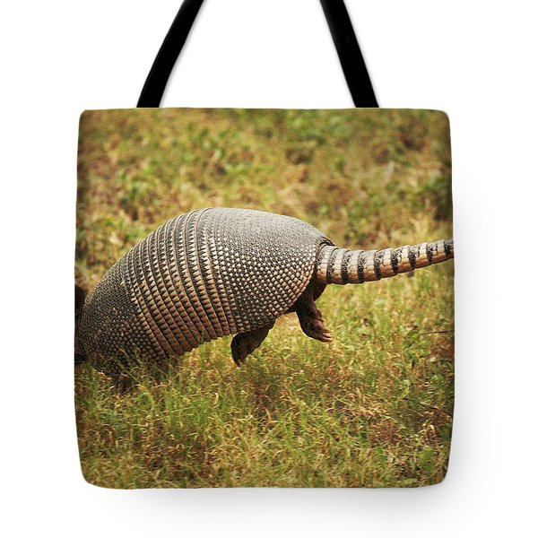 Nine-banded Armadillo Jumping Tote Bag