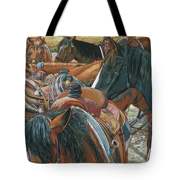 Nine Saddled Tote Bag by Nadi Spencer