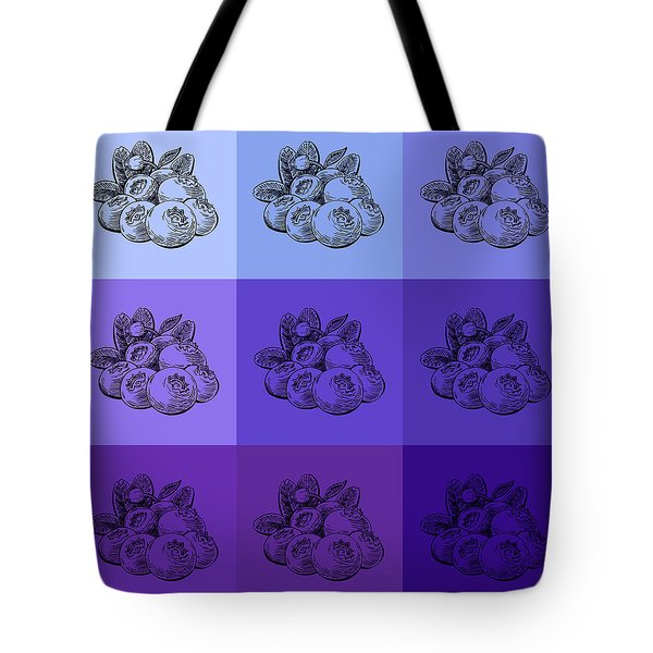 Nine Shades Of Blueberries Tote Bag