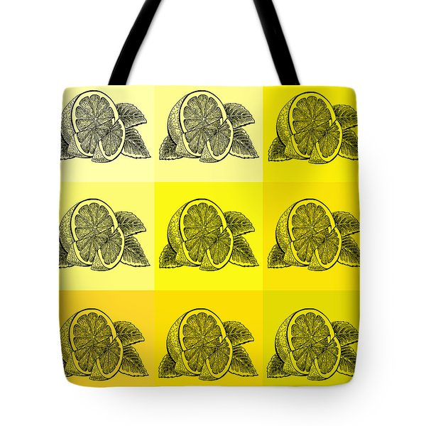 Nine Shades Of Lemon Tote Bag