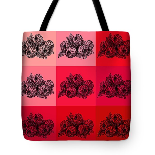Nine Shades Of Raspberries Tote Bag