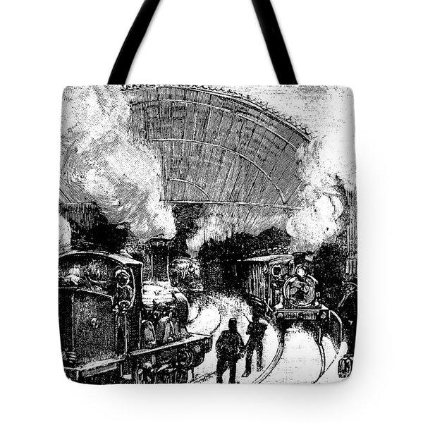 Nineteenth Century Railway Station Tote Bag