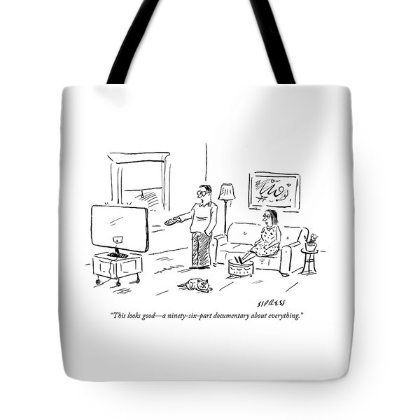 Ninety Six Part Documentary About Everything Tote Bag