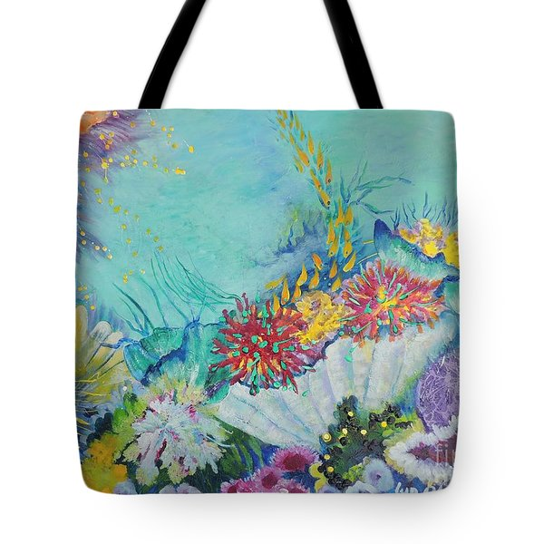 Tote Bag featuring the painting Ningaloo Reef by Lyn Olsen