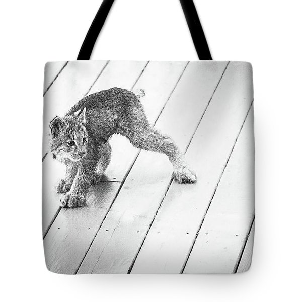 Ninja Lynx Kitty Bw Tote Bag