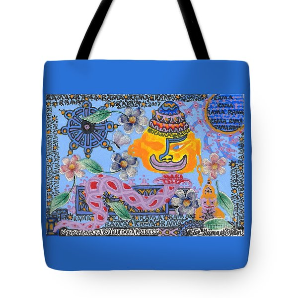 Nirvana Equals Absolute Happiness Tote Bag by Peter Gumaer Ogden