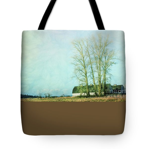 Tote Bag featuring the photograph Nisqually Barns by Jean OKeeffe Macro Abundance Art