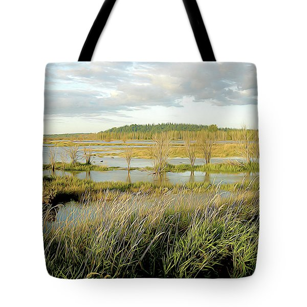 Nisqually Tide Coming In Tote Bag