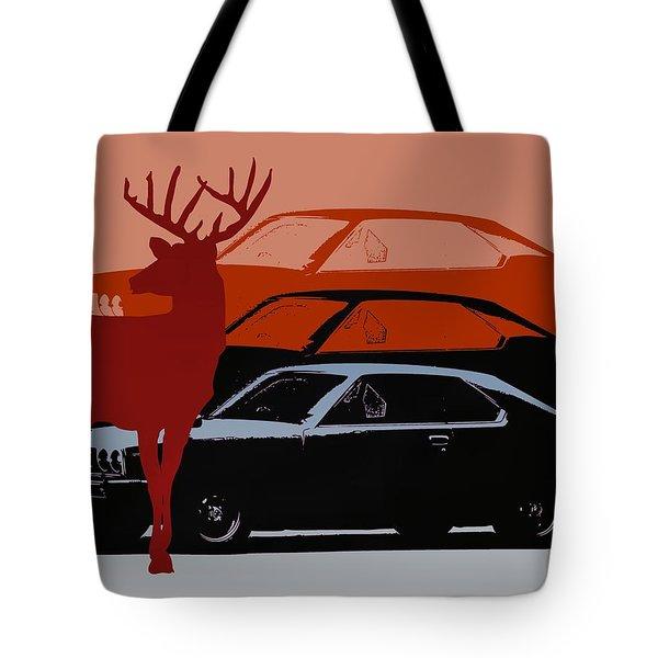 Nissan 210 With Deer 3 Tote Bag