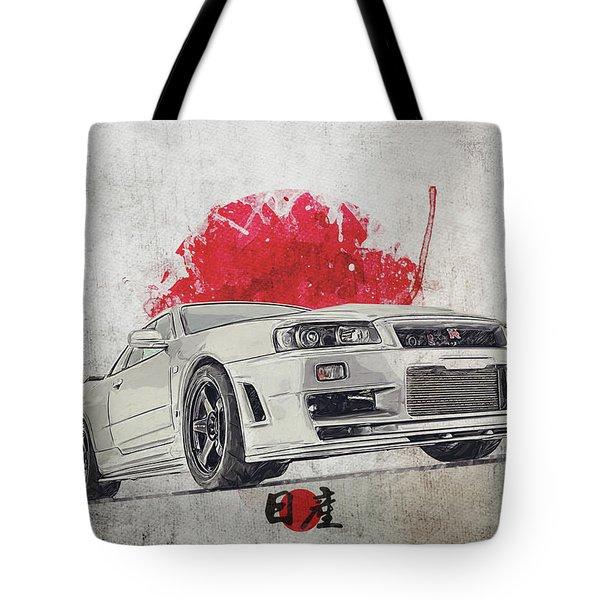 Nissan Gt-r R34 - Skyline Tote Bag