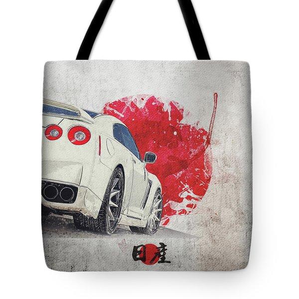 Nissan Gt-r R35 - Skyline - Cba-r35 - Race Car Tote Bag