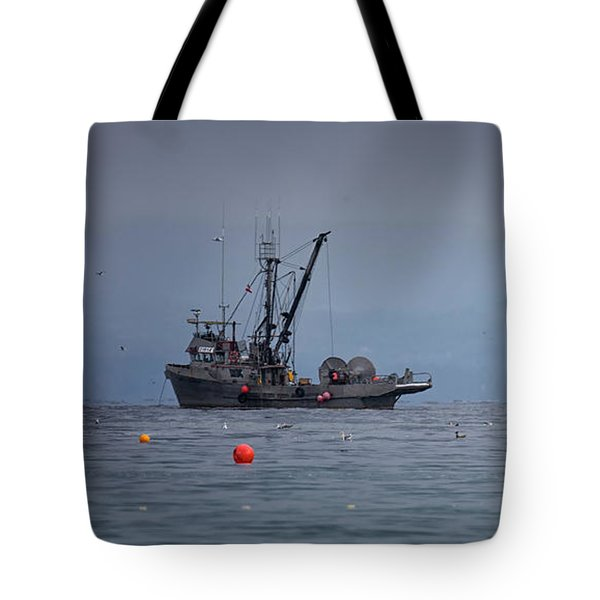 Tote Bag featuring the photograph Nita Dawn And Cape George by Randy Hall