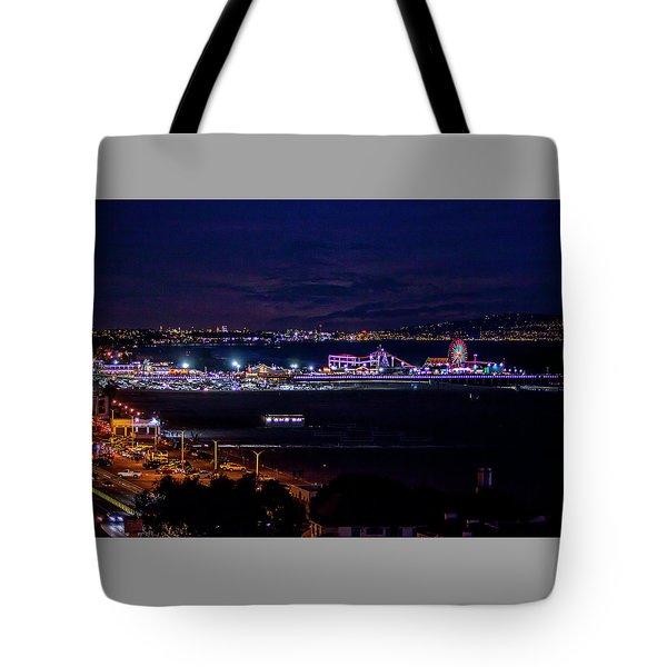 Nite Life On The Pier Tote Bag