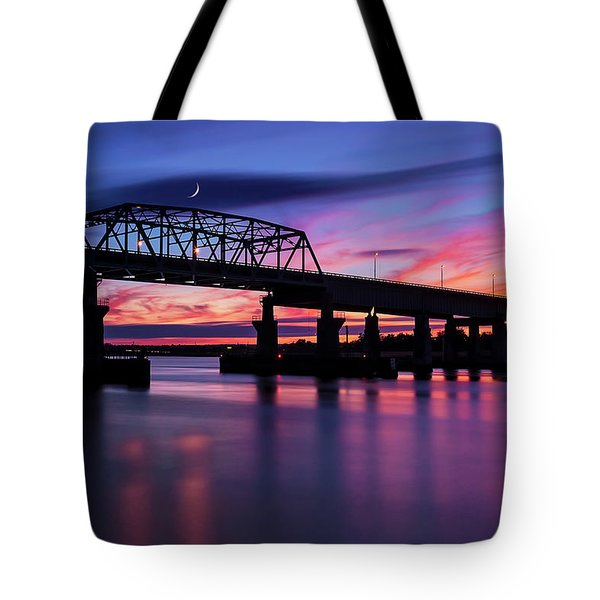 Tote Bag featuring the photograph Nj Meadowlands Sunset  by Susan Candelario