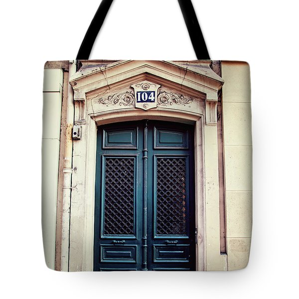 No. 104 - Paris Doors Tote Bag by Melanie Alexandra Price