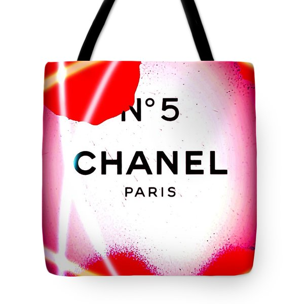 No 5 Pink Tote Bag by Daniel Janda