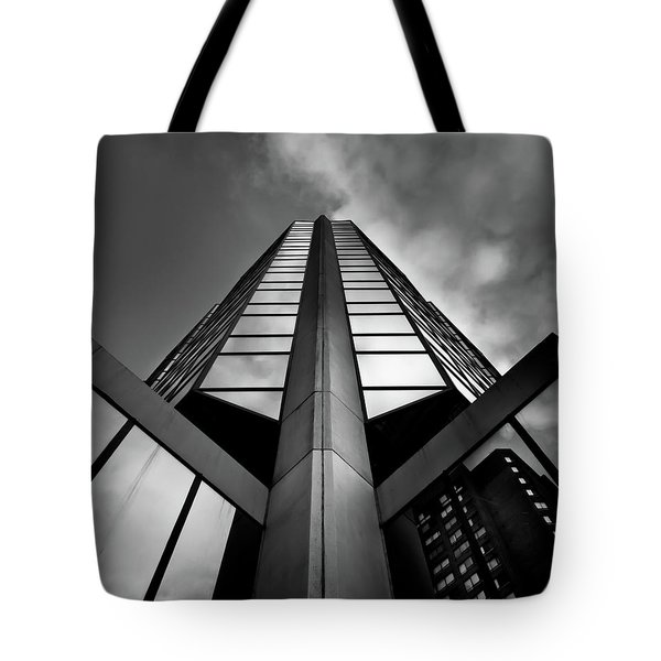 Tote Bag featuring the photograph No 595 Bay Street Toronto Canada by Brian Carson