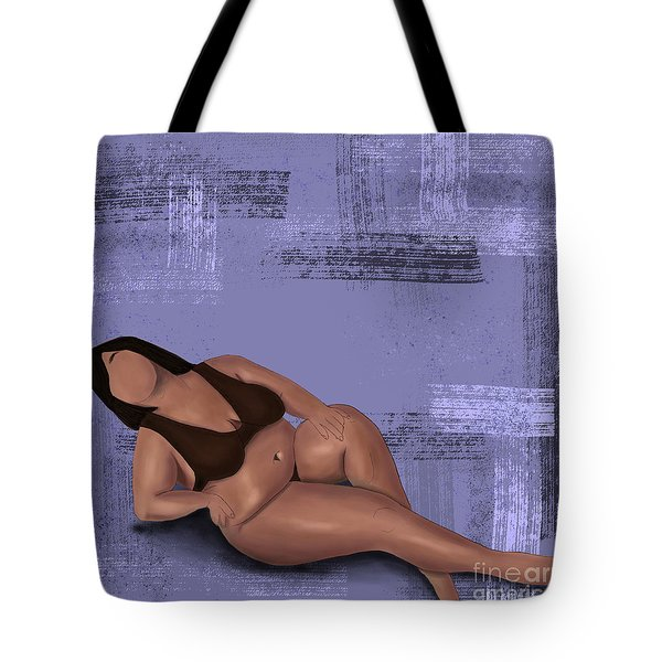 Tote Bag featuring the digital art No Angel by Bria Elyce