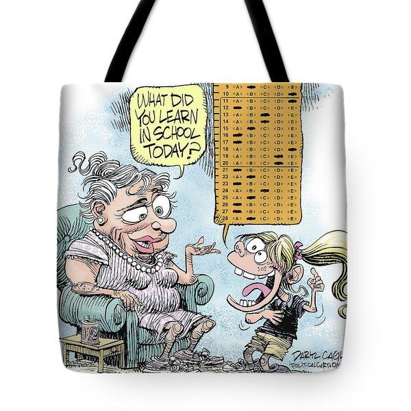 No Child Left Behind Testing Tote Bag