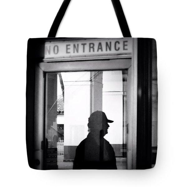 No Entrance Tote Bag