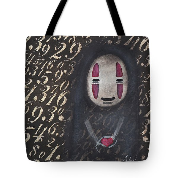 No Face With A Heart Tote Bag by Abril Andrade Griffith