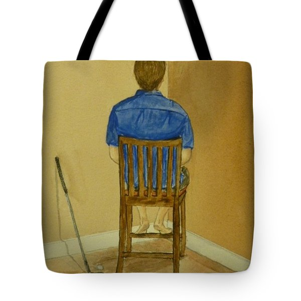 Tote Bag featuring the painting No Golf For You Today by Kelly Mills