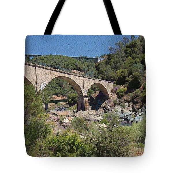 No Hands Bridge Tote Bag by Anthony Forster