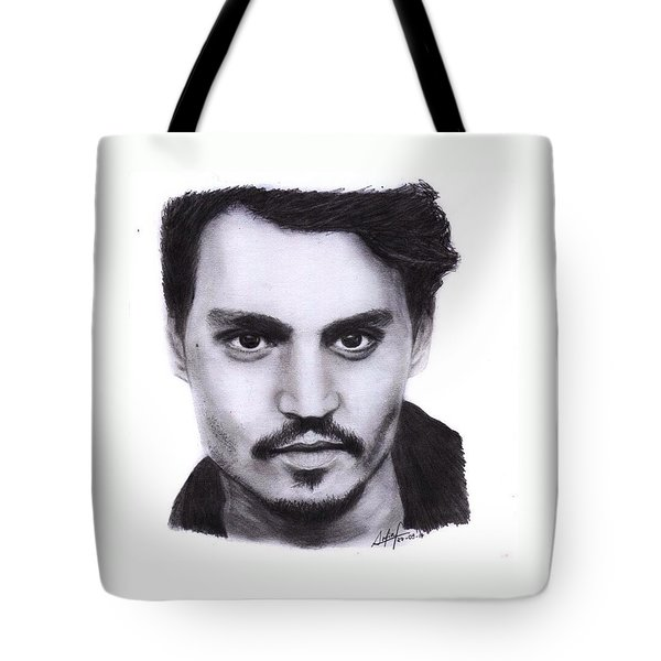 Johnny Depp Drawing By Sofia Furniel Tote Bag