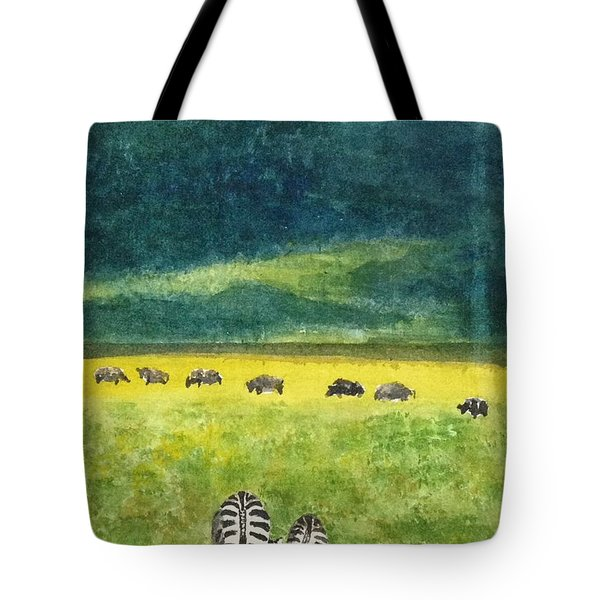 Tote Bag featuring the painting No Hurry by Elizabeth Mundaden