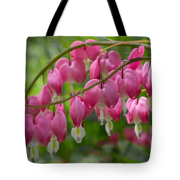 Tote Bag featuring the photograph Bleeding Heart by Patti Deters