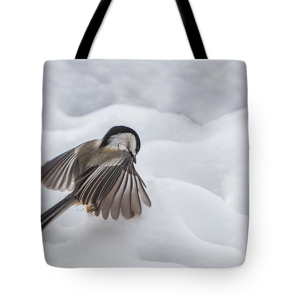 Chickadee - Wings At Work Tote Bag