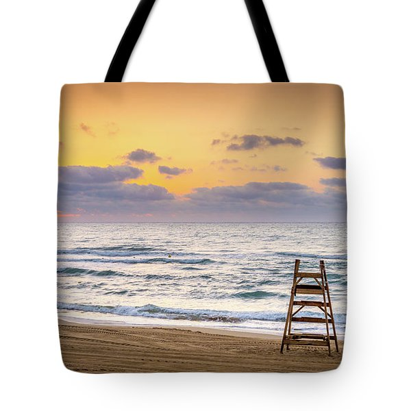 Tote Bag featuring the photograph No Lifeguard On Duty. by Gary Gillette