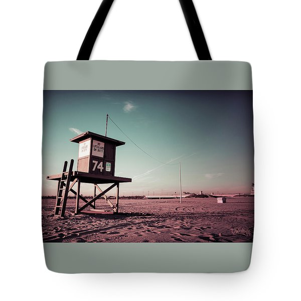 No Lifeguard On Duty Tote Bag by Joseph Westrupp