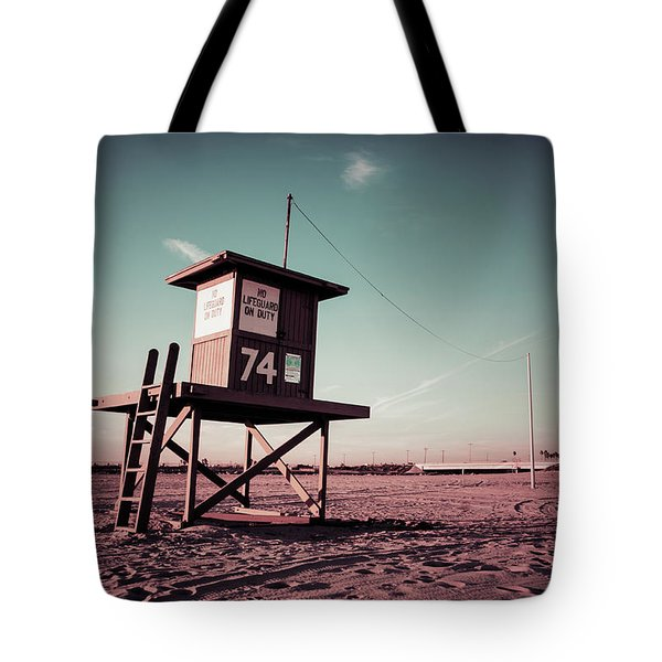 Tote Bag featuring the photograph No Lifeguard On Duty by Joseph Westrupp