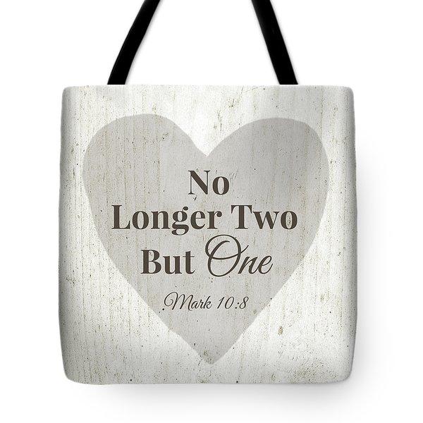 No Longer Two- Art By Linda Woods Tote Bag