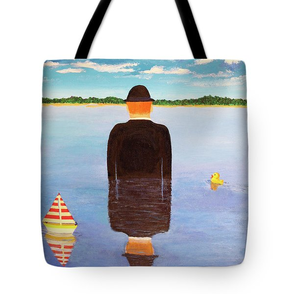 No Man Is An Island Tote Bag