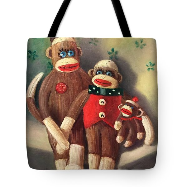 No Monkey Business Here 2 Tote Bag
