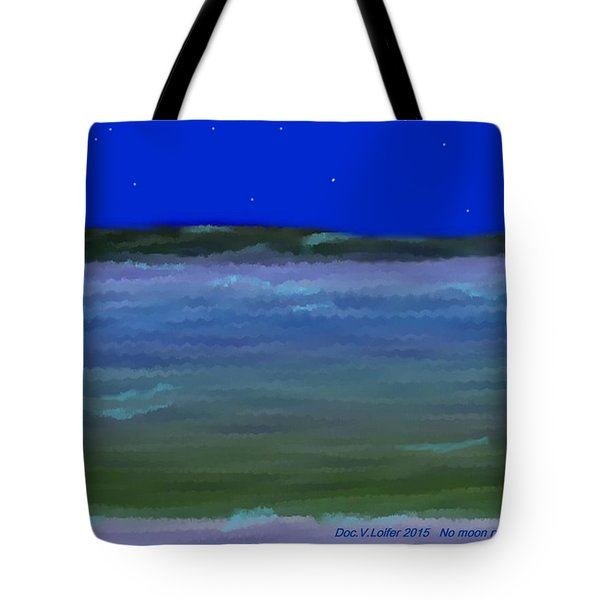 No Moon Night Sea Tote Bag