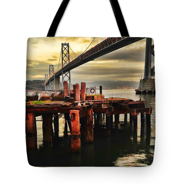 Tote Bag featuring the photograph No Name Dock by Steve Siri