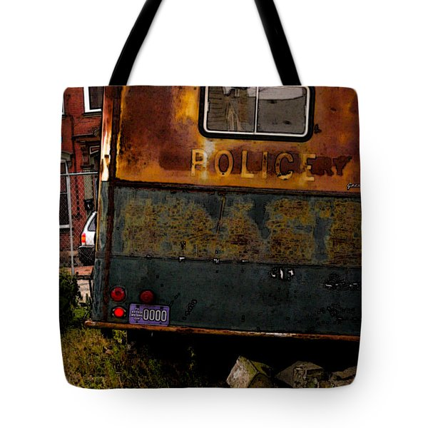 No Need For The Black Maria Tote Bag by Jay Ressler
